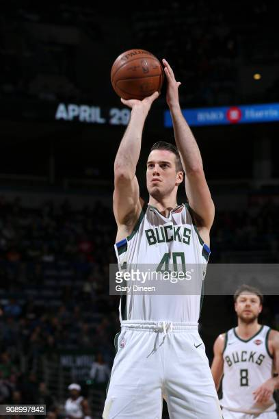 Marshall Plumlee of the Milwaukee Bucks shoots the ball against the Phoenix Suns on January 22 2018 at the BMO Harris Bradley Center in Milwaukee...