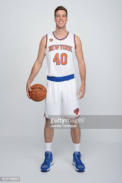 Marshall Plumlee of the New York Knicks poses for a portrait during media day at the Ritz Carlton in White Plains New York on September 26 2016 NOTE...
