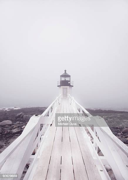 marshall point lighthouse in port clyde maine - porträt bildbanksfoton och bilder
