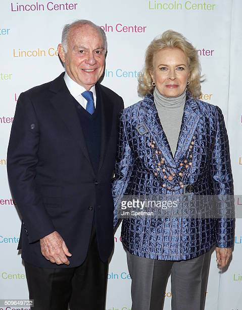 Marshall Rose and actress Candice Bergen attend the 2016 American Songbook Gala at Alice Tully Hall Lincoln Center on February 11 2016 in New York...