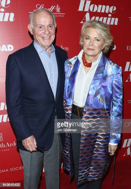 Marshall Rose and actress Candice Bergen attend the screening of Open Road Films' Home Again hosted by The Cinema Society with Elizabeth Arden and...