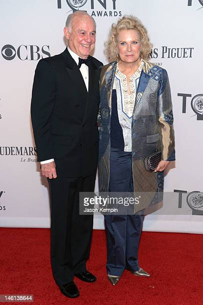 Marshall Rose and Candice Bergen attends the 66th Annual Tony Awards at The Beacon Theatre on June 10 2012 in New York City