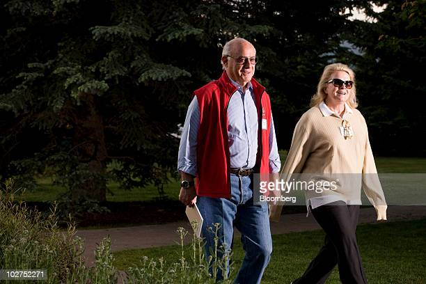 Marshall Rose, chairman of the real estate development firm Georgetown Group Inc., left, and his wife actress Candice Bergen arrive for morning...