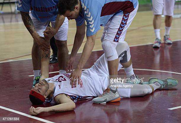 Marshall Sean of Trabzonspor Medical Park being sad after losing the FIBA EuroChallenge Final Four basketball match between Trabzonspor Medical Park...
