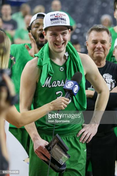 Marshall Thundering Herd guard Jon Elmore is named the MVP after winning the Conference USA Basketball Championship game between the Western Kentucky...