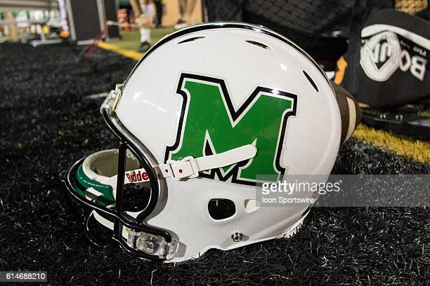 Marshall Thundering Herd helmet during the game between the North Texas Mean Green and the Marshall Thundering Herd at Apogee Stadium in Denton TX...