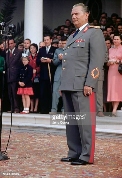 Marshall Tito at a Diplomatic Reception