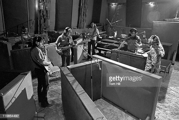 Marshall Tucker Band working on '24 Hours At A Time' in The Capricorn Studio From left Paul Riddle Toy Caldwell Tommy Caldwell George McCorkle Jerry...