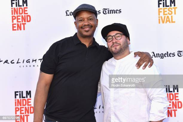 Marshall Tyler and Eric Branco attend Shorts Program 1 during the 2017 Los Angeles Film Festival at Arclight Cinemas Culver City on June 17 2017 in...