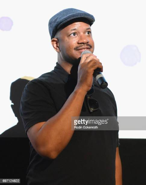 Marshall Tyler speaks onstage at Shorts Program 1 during the 2017 Los Angeles Film Festival at Arclight Cinemas Culver City on June 17 2017 in Culver...