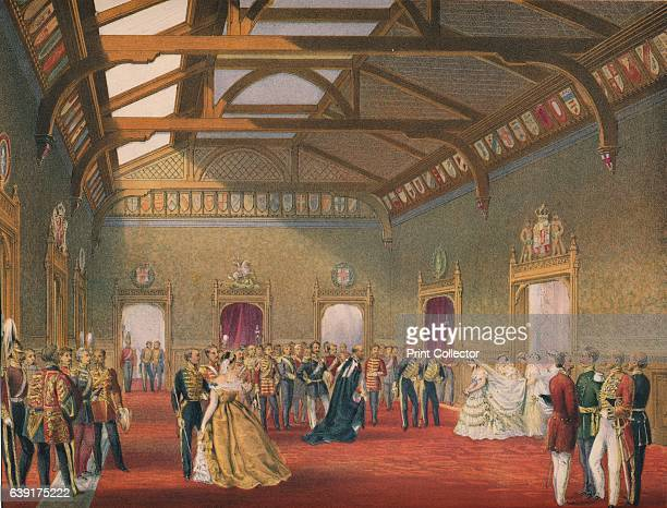 Marshalling The Procession of the Bride', 1863. Edward VII married Alexandra of Denmark at St George's Chapel, Windsor Castle, 10th March, 1863. From...