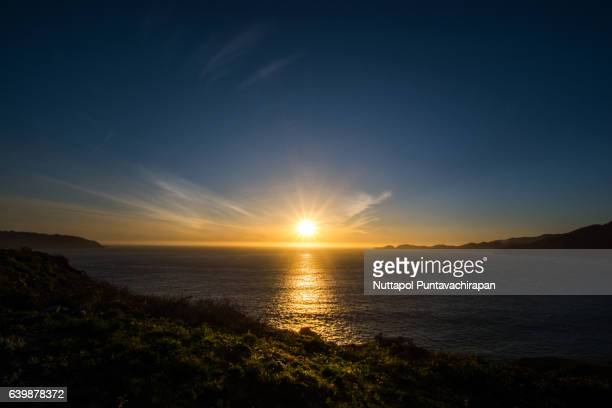 Marshall's Beach at Sunset, San Francisco, California, USA