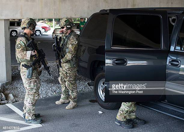 S Marshals get ready for Ahmed Abu Khattala's arrival at Alexandria Detention Center on Saturday June 28 2014 in Alexandria VA