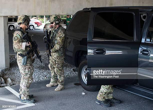 S Marshals get ready for Ahmed Abu Khattala's arrival at Alexandria Detention Center on Saturday June 28 2014 in Alexandria VA