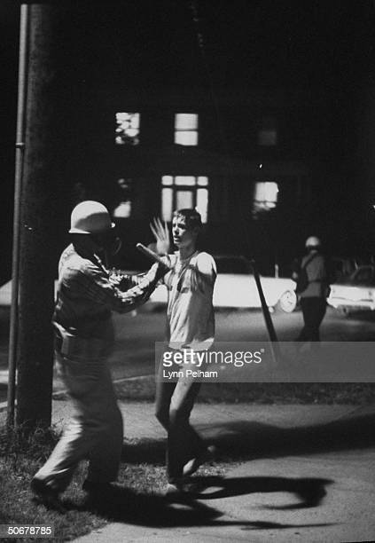 US Marshal's rounding up student rioting vs enrollment of African American James H Meredith at Univ of Mississippi