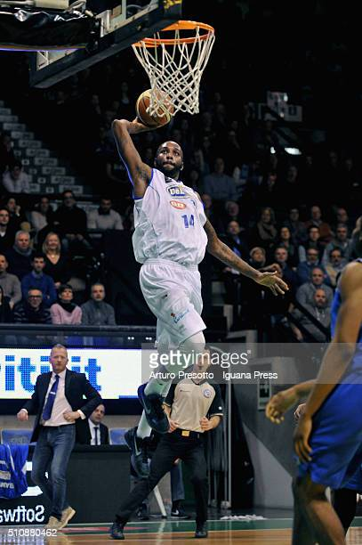 Marshawn Powell of De Longhji in action during the LegaBsaket Serie A2 match between De Longhi Treviso and Mawer Matera at Palaverde on January 23,...