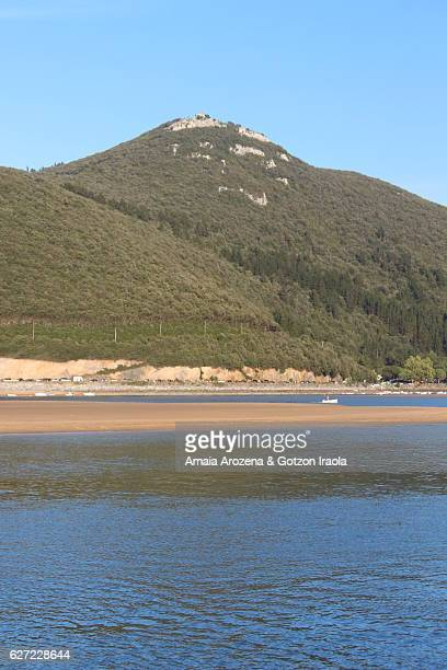 Marshes of the Urdaibai estuary from Mundaka town. Biscay province, Basque Country.
