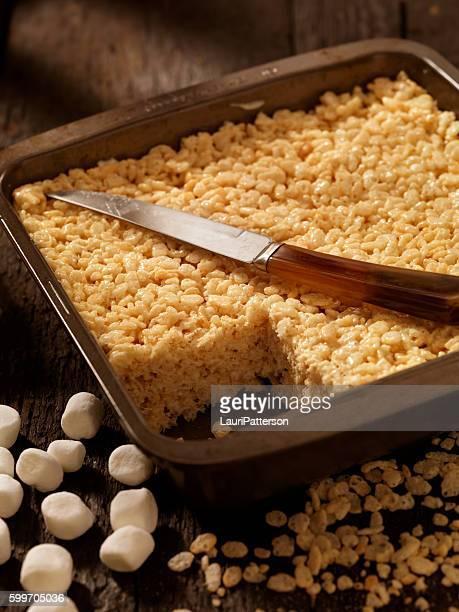 Marshmallow Crispy Rice Squares