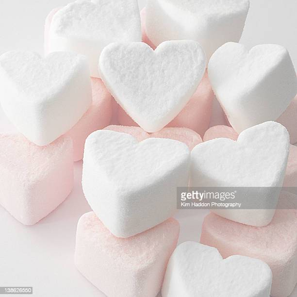 Marshmallow love hearts