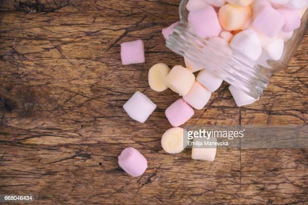 Marshmallows in a small jar