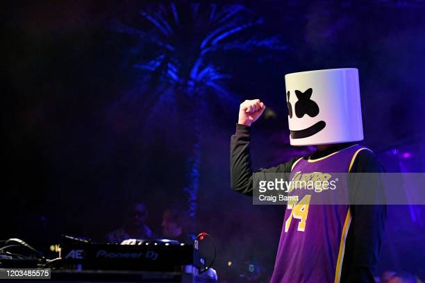 "Marshmello at Casamigos Presents Sports Illustrated The Party"" at Fontainebleau Hotel on February 01 2020 in Miami Beach Florida"