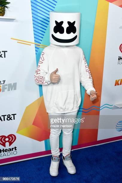 Marshmello attends iHeartRadio's KIIS FM Wango Tango by ATT at Banc of California Stadium on June 2 2018 in Los Angeles California