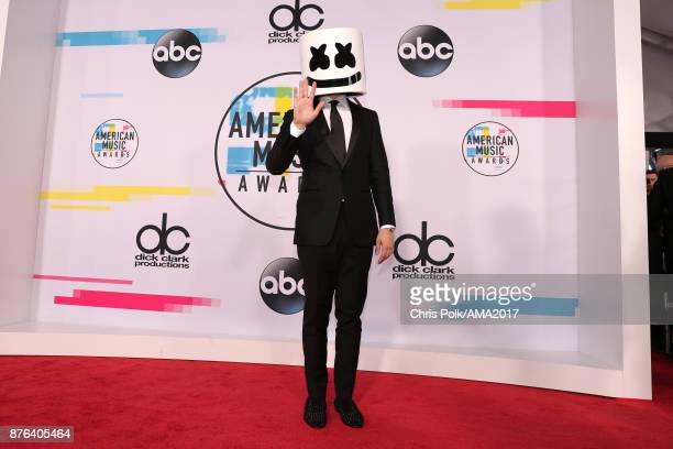 Marshmello attends the 2017 American Music Awards at Microsoft Theater on November 19 2017 in Los Angeles California