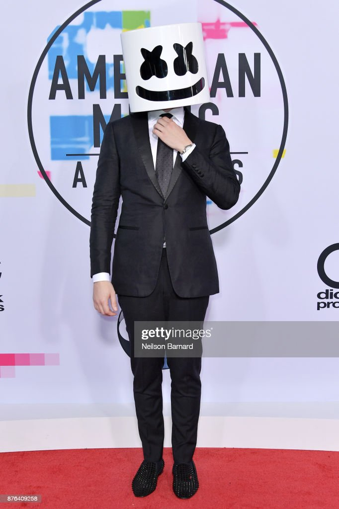 Marshmello attends the 2017 American Music Awards at Microsoft Theater on November 19, 2017 in Los Angeles, California.