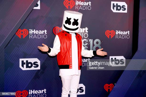 Marshmello attends the 2018 iHeartRadio Music Awards at the Forum on March 11 2018 in Inglewood California