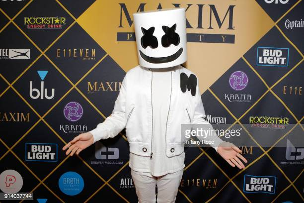 Marshmello attends the 2018 MAXIM party produced By Karma International on February 3 2018 in Minneapolis Minnesota