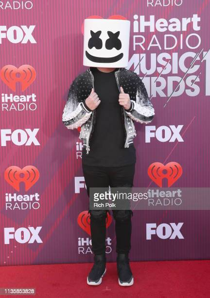 Marshmello attends the 2019 iHeartRadio Music Awards which broadcasted live on FOX at Microsoft Theater on March 14 2019 in Los Angeles California