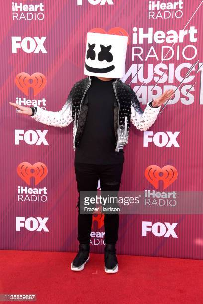 Marshmello attends the 2019 iHeartRadio Music Awards which broadcasted live on FOX at Microsoft Theater on March 14, 2019 in Los Angeles, California.