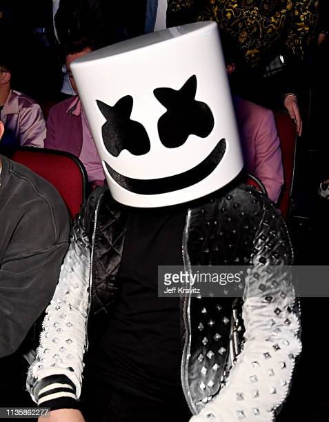 Marshmello attends the 2019 iHeartRadio Music Awards which broadcasted live on FOX at the Microsoft Theater on March 14 2019 in Los Angeles California