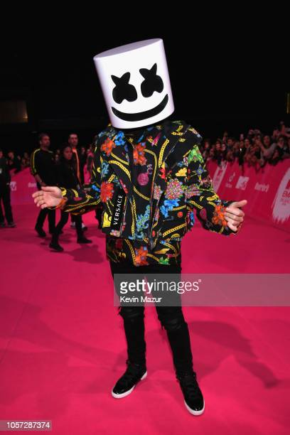 Marshmello attends the MTV EMAs 2018 at Bilbao Exhibition Centre on November 4 2018 in Bilbao Spain