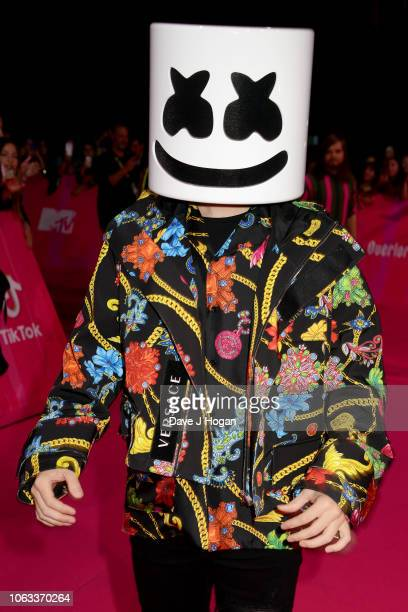 Marshmello attends the MTV EMAs 2018 at the Bilbao Exhibition Centre on November 04 2018 in Bilbao Spain