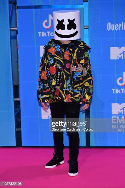 Marshmello attends the MTV EMAs 2018 on November 4 2018 in Bilbao Spain