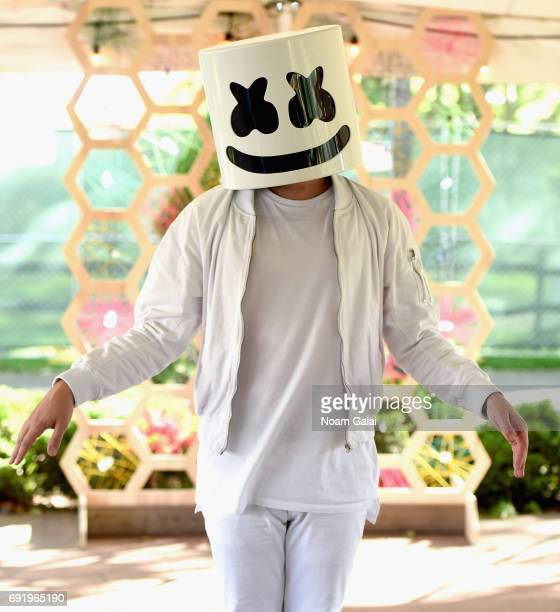 Marshmello during the 2017 Governors Ball Music Festival Day 2 at Randall's Island on June 3 2017 in New York City