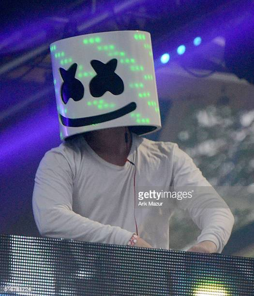 Marshmello performing at Ultra Music Festival 2016 on March 20 2016 in Miami Florida