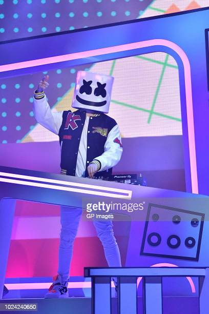 Marshmello performs at the 2018 iHeartRADIO MuchMusic Video Awards at MuchMusic HQ on August 26 2018 in Toronto Canada
