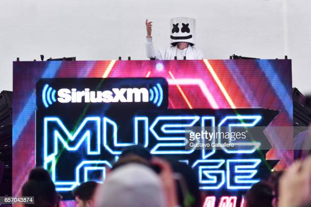 Marshmello performs at the SiriusXM Music Lounge at 1 Hotel South Beach on March 23 2017 in Miami Florida