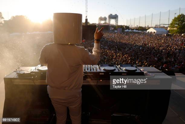 Marshmello performs live onstage during 2017 Governors Ball Music Festival Day 2 at Randall's Island on June 3 2017 in New York City
