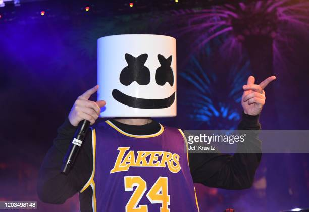 Marshmello performs onstage at Sports Illustrated The Party Brought To You By The Undisputed Group And ABG Entertainment With DaBaby Black Eyed Peas...