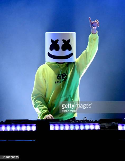 Marshmello performs onstage during the 2019 iHeartRadio Music Festival at TMobile Arena on September 21 2019 in Las Vegas Nevada