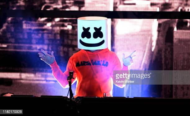 Marshmello performs onstage during the 7th Annual We Can Survive presented by ATT a RADIOCOM event at The Hollywood Bowl on October 19 2019 in Los...