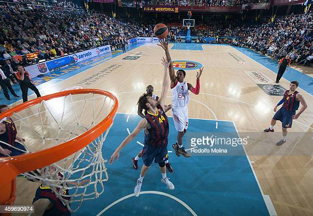 Marshon Brooks #2 of EA7 Emporio Armani Milan in action during the 20142015 Turkish Airlines Euroleague Basketball Regular Season Date 7 game between...