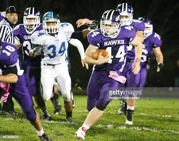 Marshwood Brett Gerry carries the ball in the first half vs York football at Marshwood High School in South Berwick Friday October 24 2014