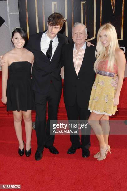 Marston Hefner Hugh Hefner and attend World Premiers of Paramount Pictures IRON MAN 2 at El Capitan Theatre on April 26 2010 in Hollywood California