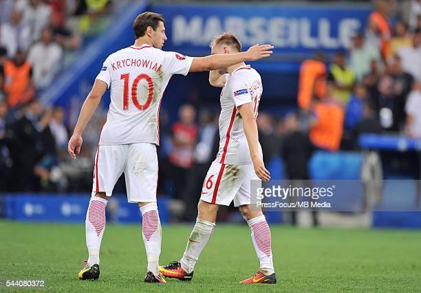 Marsylia Marseille Football UEFA Euro 2016 quarter finals Poland and Portugal Jakub Blaszczykowski dejection after penalty miss Norbert Barczyk /...