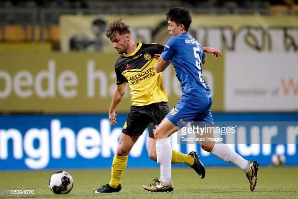 Mart Remans of Roda JC Sai van Wermeskerken of SC Cambuur during the Dutch Keuken Kampioen Divisie match between Roda JC v SC Cambuur at the Parkstad...
