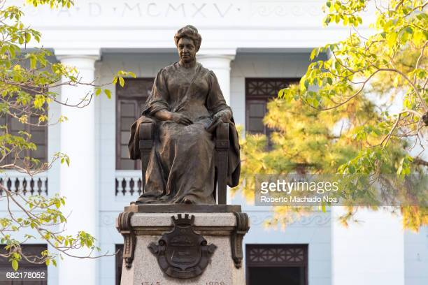 Marta Abreu bronze statue in the Leoncio Vidal plaza or town square She was a main city benefactor at the end of the XIX century